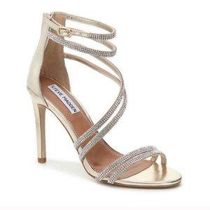 Steve Madden fiffi rhinestone stiletto sandal 10